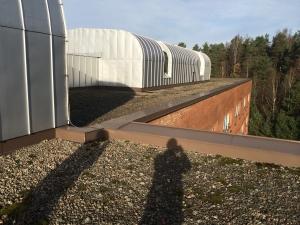 Här ser vi taket före torrsugning.